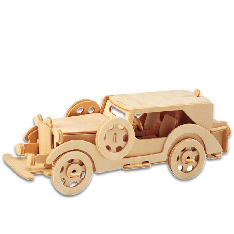 A Toys For Children 3d Puzzle Diy Wooden Puzzle Classic Cars A Kids Toys Also Suitable Adult Game Gift Of High Quality Wood