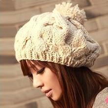 1 шт., Новая Корейская версия шапки в виде тыквы, вязаные шапки ручной работы, осенняя и зимняя шерстяная шапка, теплая шапка, многоцветная