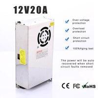 LED power supply Adpter Output DC 12V 20A 240W LED Power Supply LED Light Power transformer voltage converter