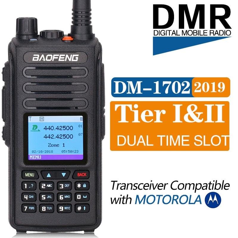2019 Baofeng DMR DM 1702 GPS Walkie Talkie VHF UHF 136 174 400 470MHz Dual Time