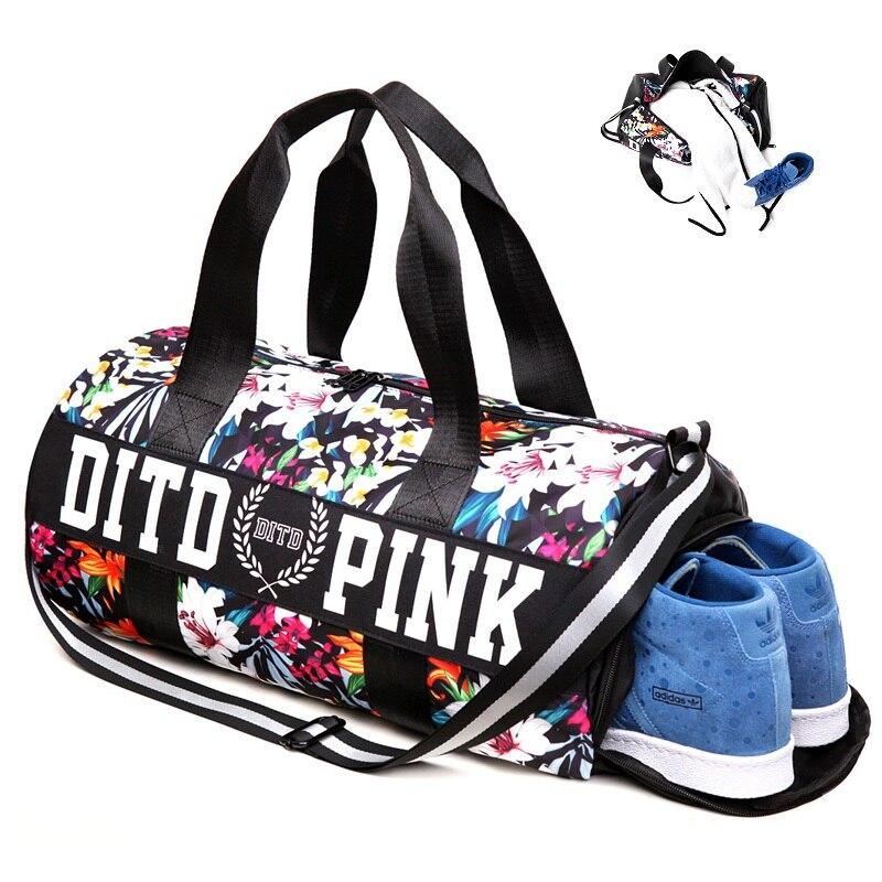 Top Female Multifunction Gym bag Independent Shoes Pocket Handbag Fitness Shoulder Training Bag <font><b>Yoga</b></font> Mat Duffel Travel Sport bag
