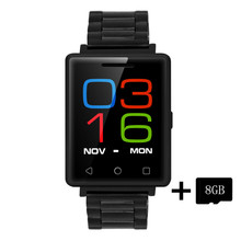 Dtno. i g7 smart watch mtk2502 1.54 pulgadas bluetooth 4.0 monitor del ritmo cardíaco del podómetro sleep monitor de gsm smartwatch para android ios