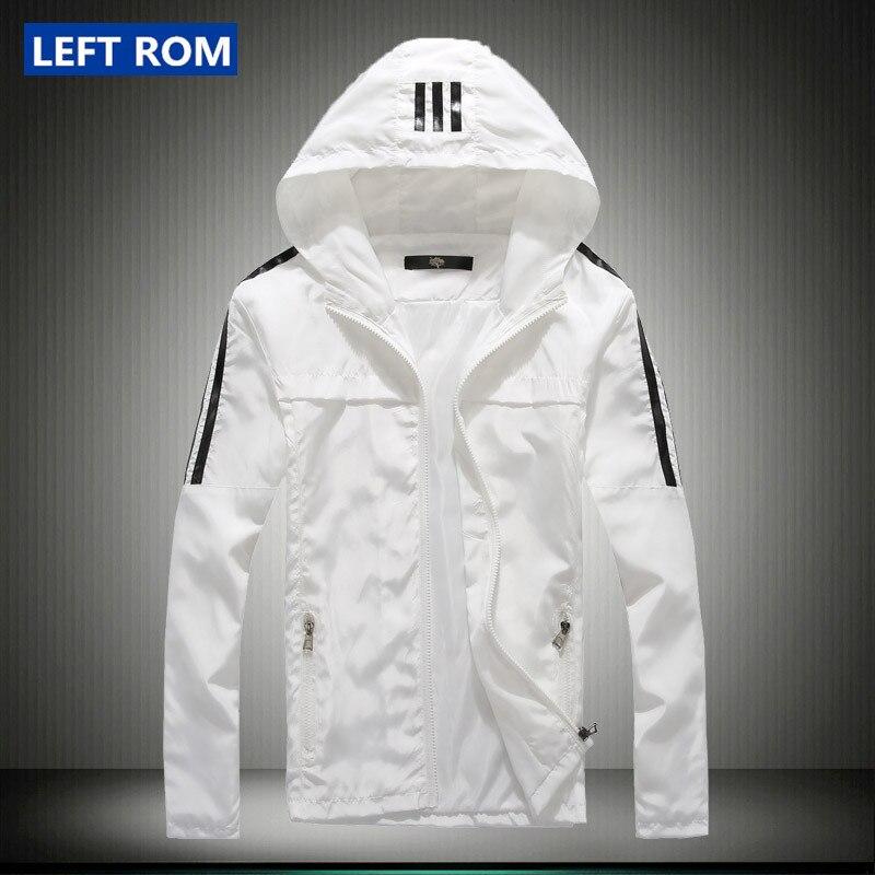 new 2017 men's fashion boutique slim movement hooded jackets coats / Thin premium Male leisure jacket coat / Men casual jackets