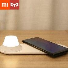 Xiaomi Йи светильник Беспроводной Зарядное устройство светодиодный ночной Светильник магнитное притяжение для быстрой зарядки iPhone samsung huawei Xiaomi