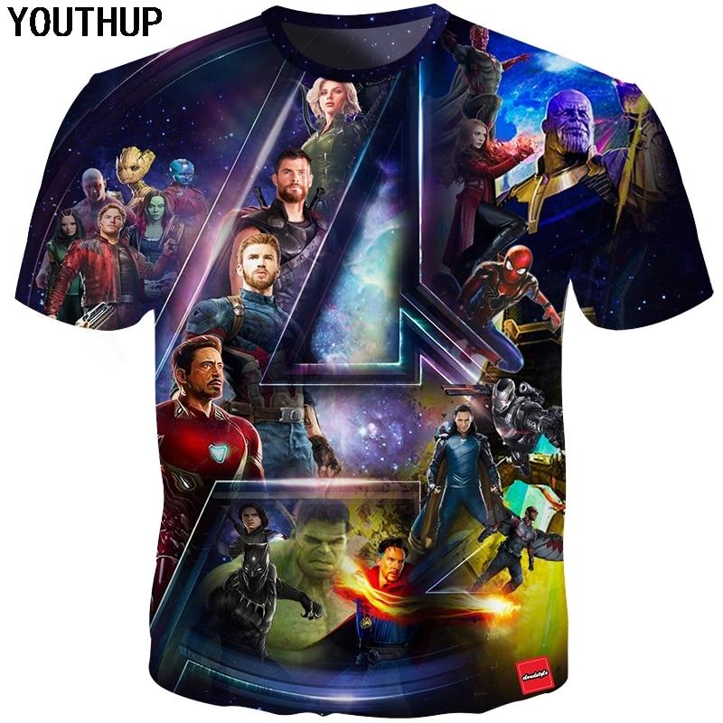 YOUTHUP 2018 Ny sommar T-shirt T-shirt för män 3D-trycktecken - Herrkläder