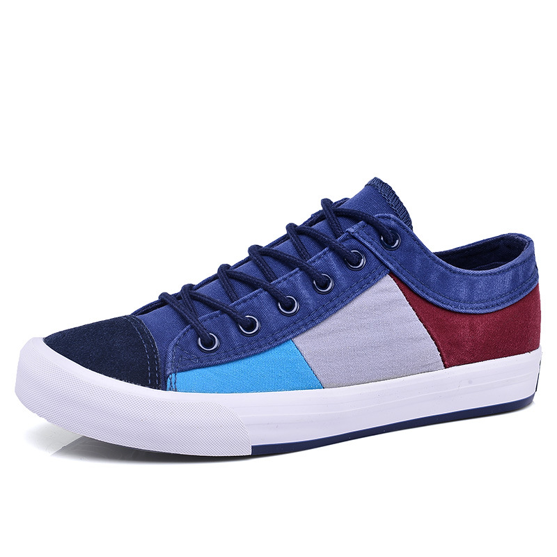 2019 Fashion Quality Vulcanized Shoes Men s Summer Shoes Breathable Canvas Retro Casual Boat Sneakers For Man