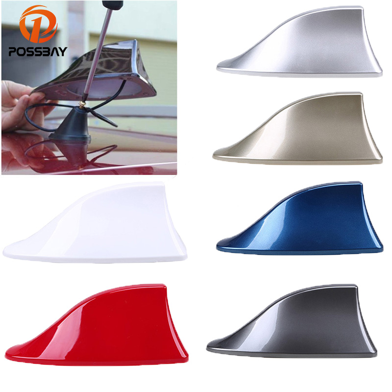 POSSBAY Gray/Blue/Gold/Silver/Black/Red/ White Car Antenna Shark Fin Antennas Auto Radio Aerials for Alfa Remeo Renault Kia hsw rechargeable battery for apple for macbook air core i5 1 6 13 a1369 mid 2011 a1405 a1466 2012