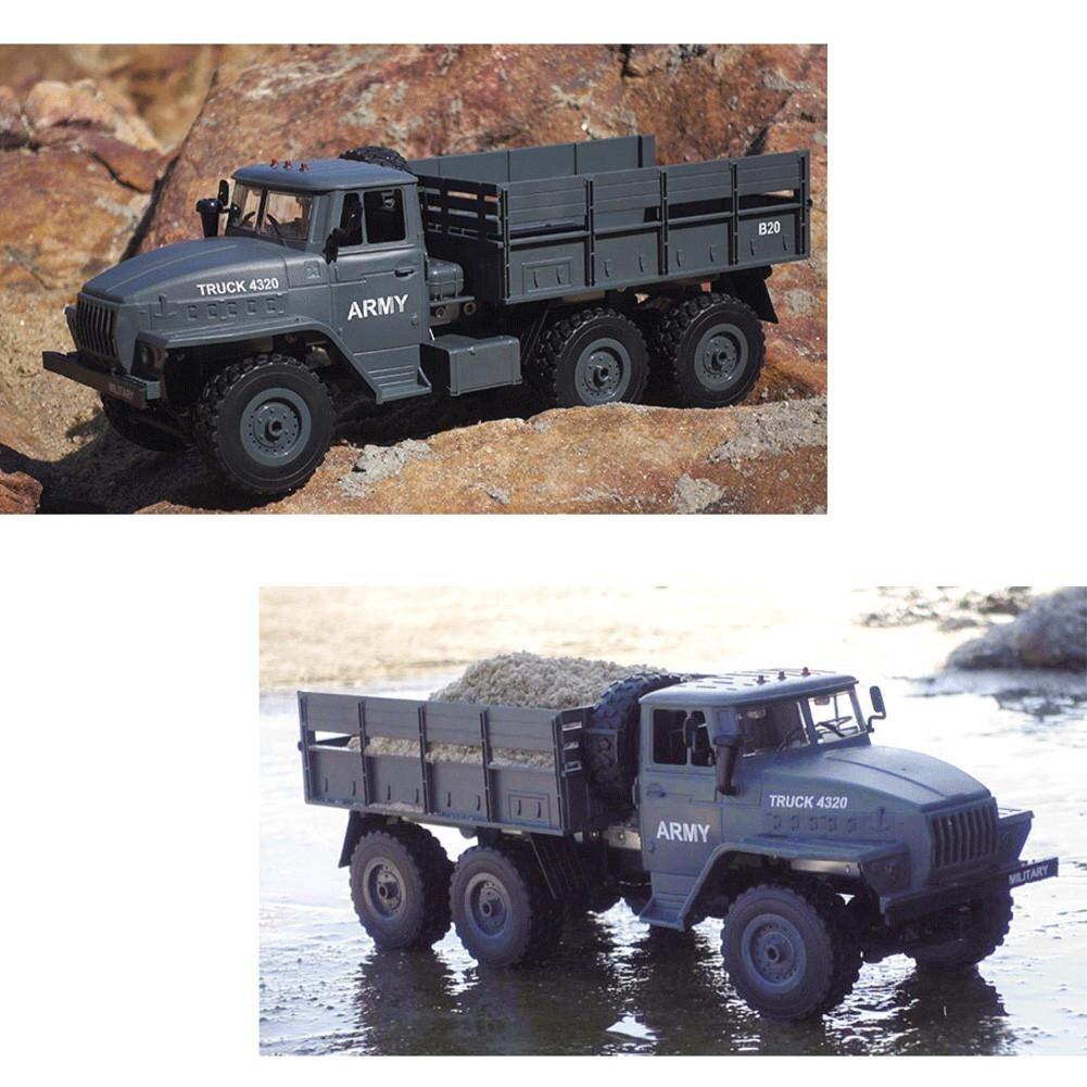 Camion radiocommandé Ural RC camions pièces 1:16 6WD RC chenille militaire camion voitures corps assembler enfants voiture jouets cadeau