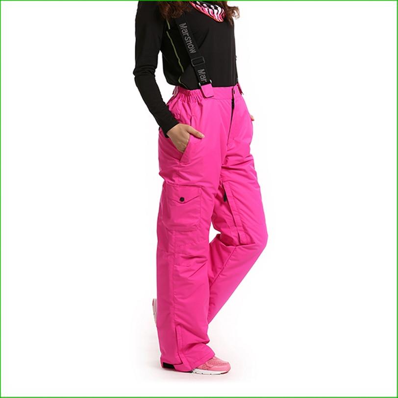 KP02W haute qualité femmes snowboard ski pantalon femmes débutant deux pantalons de ski monoboard ski pantalon