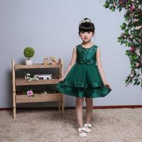 2 Layers Tulle Girls Dress With Vintage Floral Top Summer Party Wedding Special Occasi Princess kids dresses for girls clothes