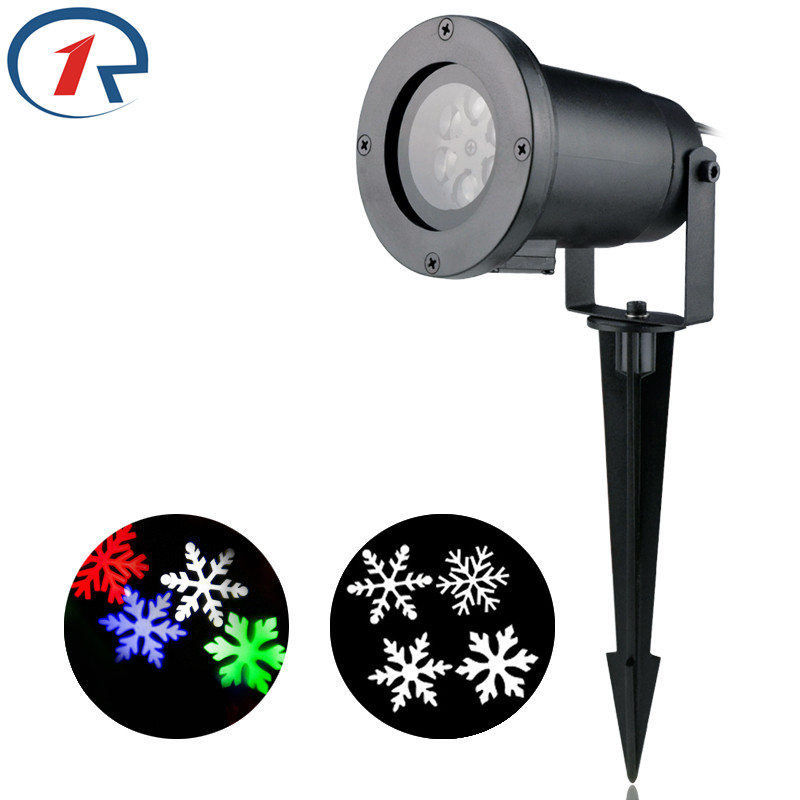 ZjRight Christmas snowflake LED Projector light Red Green Blue White move Snowflake Stage light outdoor party lights disco light