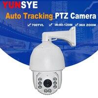 Auto Tracking PTZ Camera 7 INCH IR Speed Dome Camera CCD 700TVL 36X Optical Zoom IR 150M OSD menu Outdoor PTZ Camera