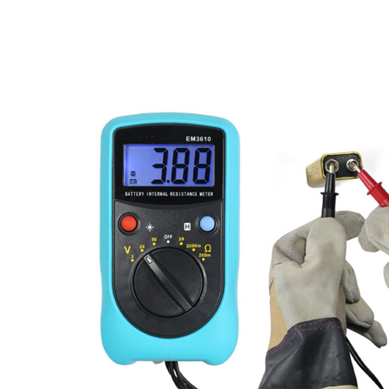 New Digital  Battery Voltage Tester Temperature Coefficient Battery Internal Resistance Meter Automotive Measuring Instrument sm8124a battery impedance meter vehicle rechargeable lithium ion nickel hydroxide internal battery resistance tester voltmeter