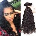 Естественная Волна Бразильский Волос Weave Связки Необработанные Бразильский Девственные Волосы Вьющиеся Переплетения Человеческих Волос 4 Пучки Девственница Вьющиеся Волосы