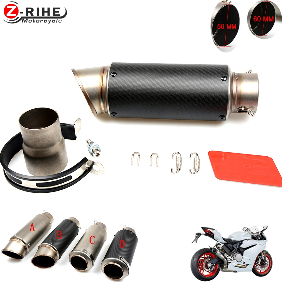 for bmw Motorcycle Exhaust Pipe Muffler Inlet 51mm 61mm R3 GP Exhaust Mufflers Carbon Fiber Exhaust Pipe With Sticker Laser Logo for bmw motorcycle exhaust pipe muffler inlet 51mm 61mm r3 gp exhaust mufflers carbon fiber exhaust pipe with sticker laser logo