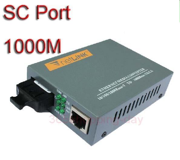 imágenes para HTB-GS-03 de fibra Óptica Media Converter 10/100/1000 Mbps puerto SC 25 KM, fuente de alimentación externa