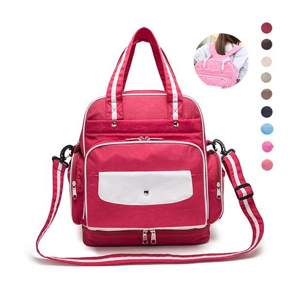 ФОТО Mummy Diaper Bag Organizer Baby Bag Mum Maternity Nappy Bags women Travel Backpack fashion large capacity  Waterproof 10 color