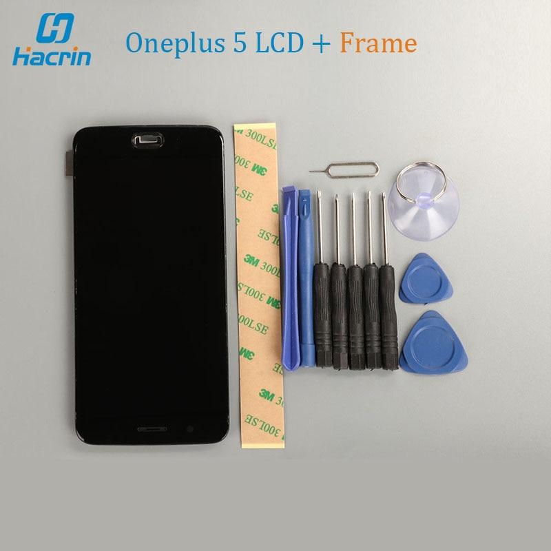 OnePlus 5 Display LCD + Touch Screen + Quadro Ferramentas Acessórios Para OnePlus 5 Snapdragon 835 5.5 polegadas Do Painel de Vidro