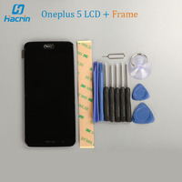 OnePlus 5 LCD Display Touch Screen Frame Tools Glass Panel Accessories For OnePlus 5 Snapdragon 835