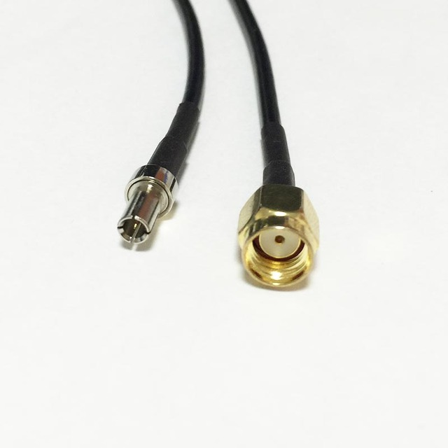 New Wireless Modem Wire RP SMA Male Plug To TS9 Male Plug Connector ...