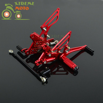 Motorcycle CNC Adjustable Motorcycle Billet Foot Pegs Pedals Rest For HONDA NSF100