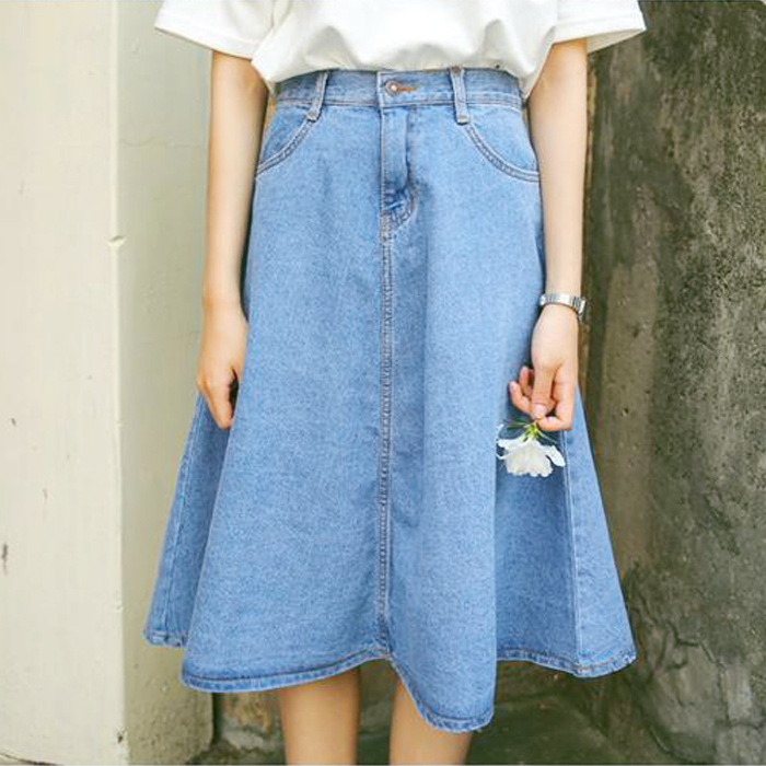 Popular Full Denim Skirt-Buy Cheap Full Denim Skirt lots from ...