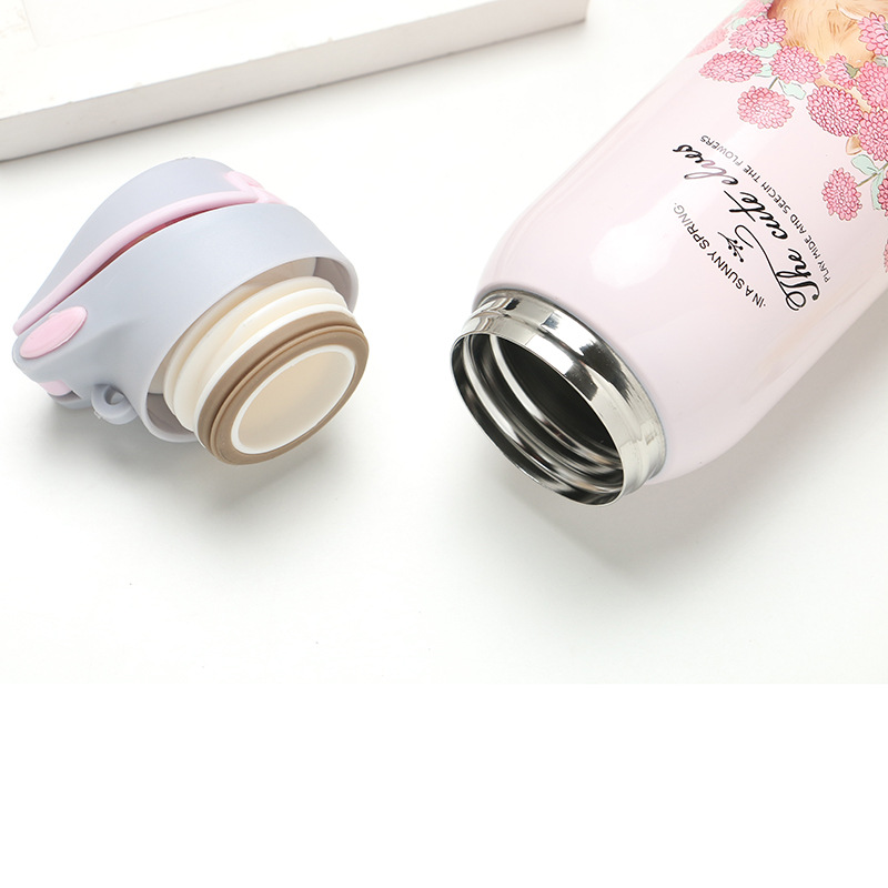 HTB1Nth2XHj1gK0jSZFOq6A7GpXa4 380/450ML Double Wall Sport Tea Coffee Thermos Hot water bottle 304 Stainless Steel Vacuum Flask mug with straw insulated cup
