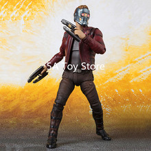 SHF Figuarts Marvel Avengers 3 Infinity War Super Heros Star-Lord PVC Action Figure Model Toy 15CM
