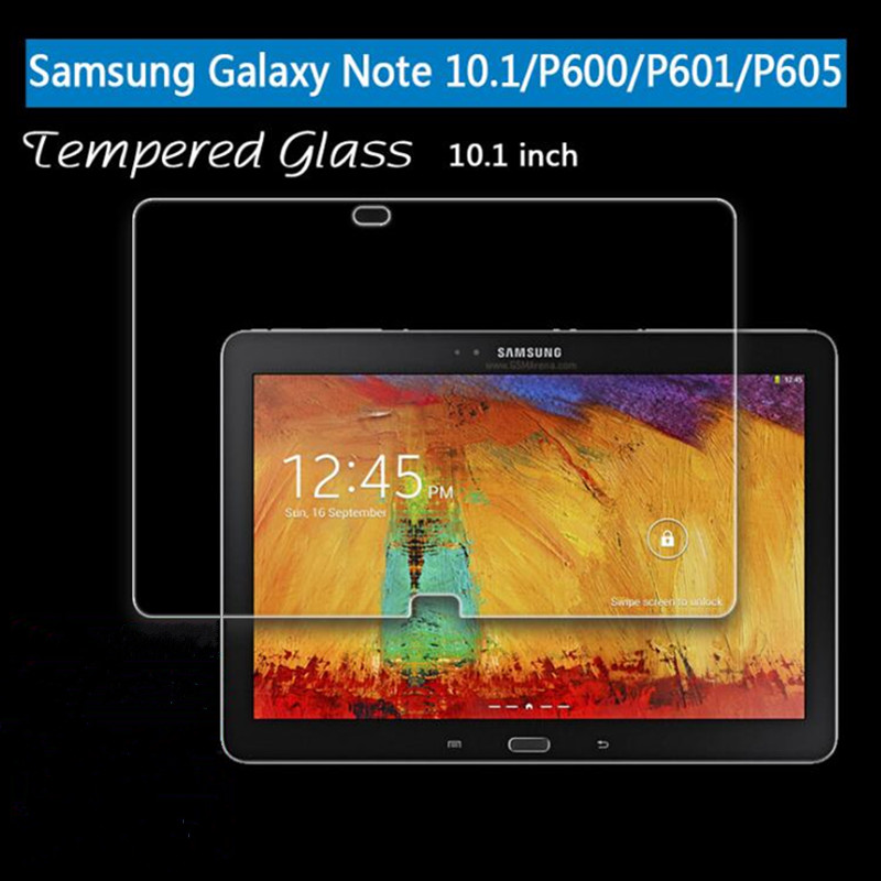 Tempered Glass For Samsung Galaxy Note 10.1 2014 SM-P601 P601 P600 P605 / 2012 GT-N8000 N8000 N8010 Tablet Screen Protector Film protective glossy screen guard for samsung galaxy note 10 1 gt n8000 n8010 translucent white