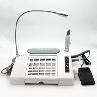 3 в 1 Многофункциональный Салон ногтей Оборудование Инструмент нейл арта всасывания Пылеуловители машины с настольная лампа
