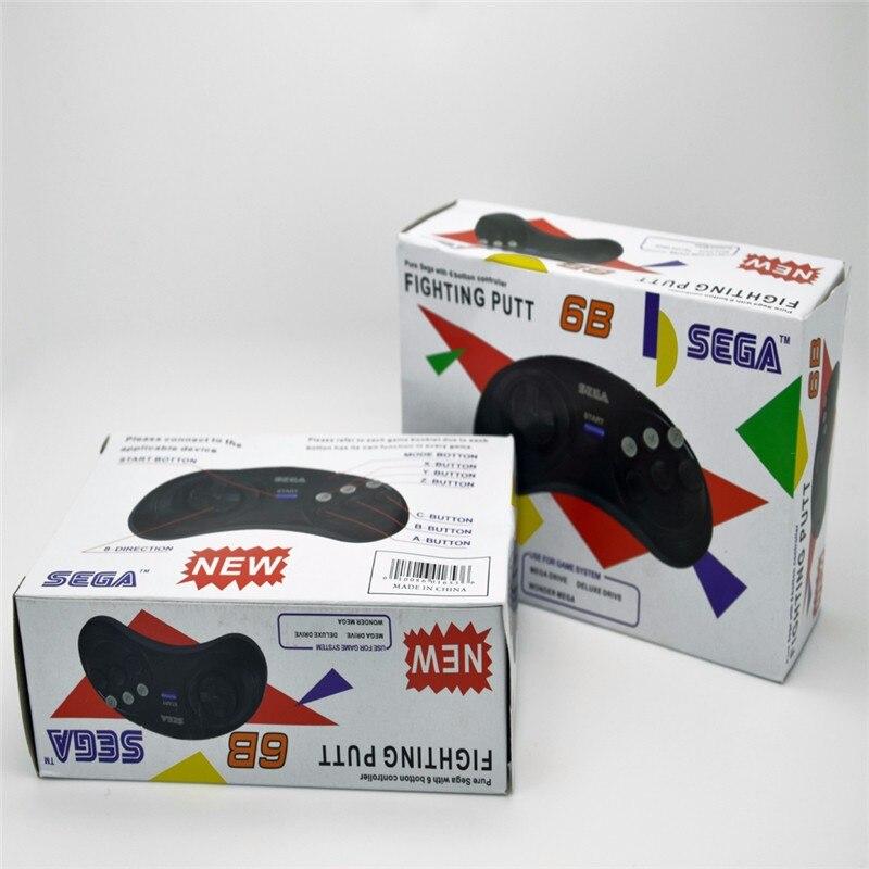 2 x contrôleur de jeu classique boutons filaire 6 bouton joypad pour Sega Sega Genesis/MD2 y1301/PC/Mac Mega Drive cartouches