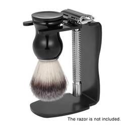 Профессиональный 3 в 1 мужской инструмент для бритья набор щетка для бритья подставка для бритья мыльница мужские инструменты для чистки