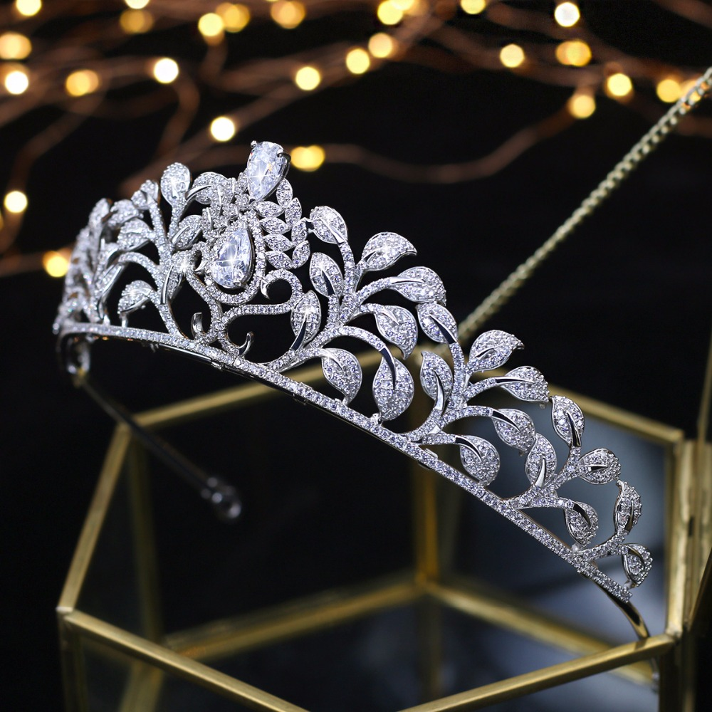 Asnora Coroa de noiva Wedding Tiara Bridal Crowns Princess Tiaras Girls Hairwear Wedding Hair Accessories couronne