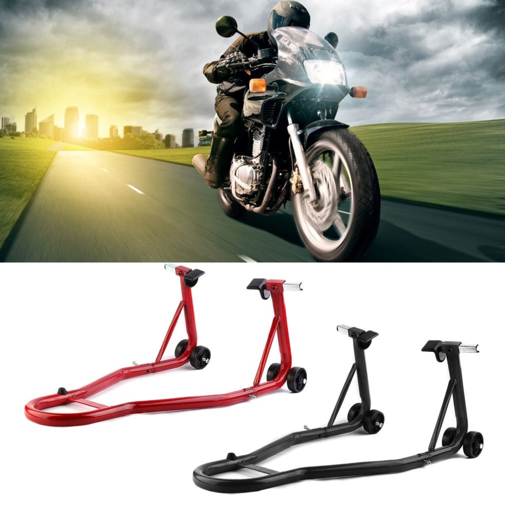 2 Pcs/set Black/red Steel Full Set Of Motorcycle Rear And Front Wheel Stand Motorcycle Paddock Stand Set Holder J28C30 robotec mini small card small business laser engraving cutting machine cnc co2 6040 4060