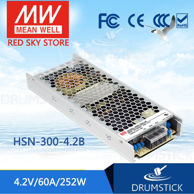 все цены на  100% Original MEAN WELL HSN-300-4.2B 4.2V 60A meanwell HSN-300 4.2V 252W Single Output Switching Power Supply [Real6]  онлайн