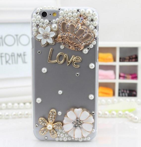 luxury 3D DIY diamond transparent <font><b>Phone</b></font> <font><b>Case</b></font> for iphone 7 7plus 6 6s 6plus 5s <font><b>4s</b></font> cover for samsung galaxy s7 S6 edge note5