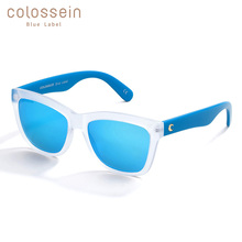 COLOSSEIN Blue Label Fashion Sunglasses For Women PC Frame With Square Lens Outdoor