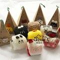 Piso casa Animal Bonito Cotton & Meias De Lã de Inverno Mulheres Cor Sólida Fêmea Quente Grosso Fluffy Meninas Meias meias mulheres algodão
