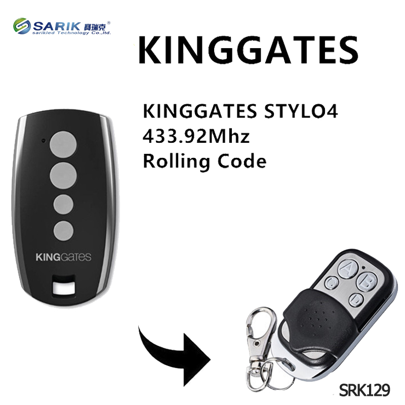 43392mhz:  5PCS King Gates Stylo 4K garage remote replacment 433.92mhz handheld transmitter Kinggates gate control key fob rolling code - Martin's & Co