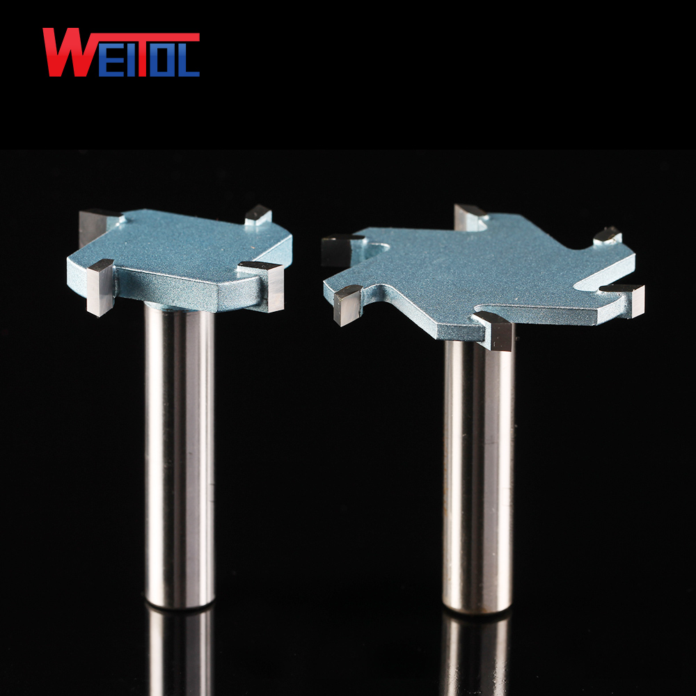 Weitol 1 pcs Milling Cutter Router Industrial grade T Bit Woodworking Tools Wooden Para CNC wood cutting 16pcs 14 25mm carbide milling cutter router bit buddha ball woodworking tools wooden beads ball blade drills bit molding tool