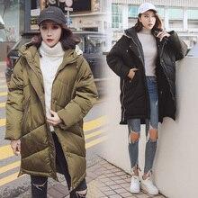 2017 new Winter Jacket Women Hooded Thicken Coat Female Fashion Warm Outwear Down Cotton-Padded Long Wadded Jacket Coat Parka