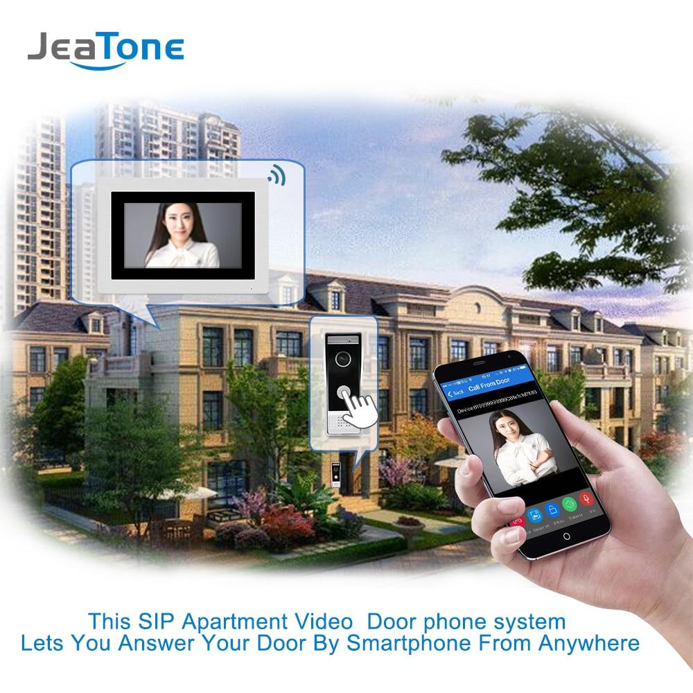 Image 5 - 7 inch WIFI IP Video Door Phone Intercom Wired Door Bell Door Speaker Access Control System Touch Screen Motion Detection-in Video Intercom from Security & Protection
