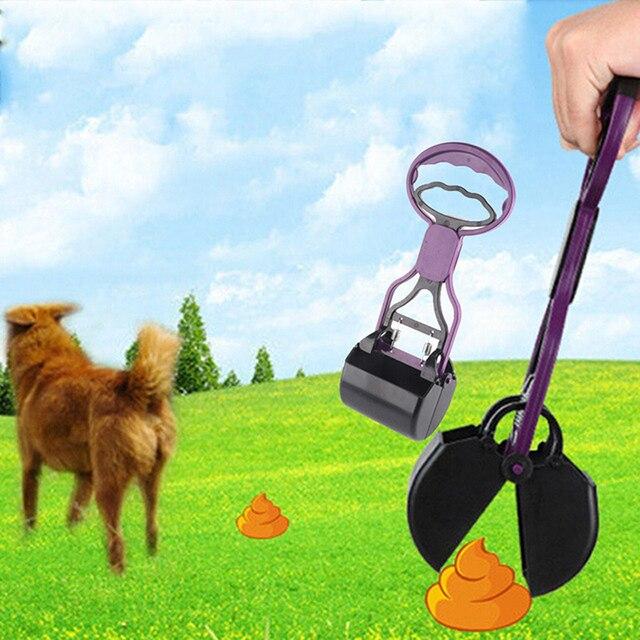 Pet Pooper Scooper Long Handle Jaw Poop Scoop Clean Pick Up Animal Waste Dog Puppy Cat Waste Picker Cleaning Tools 2