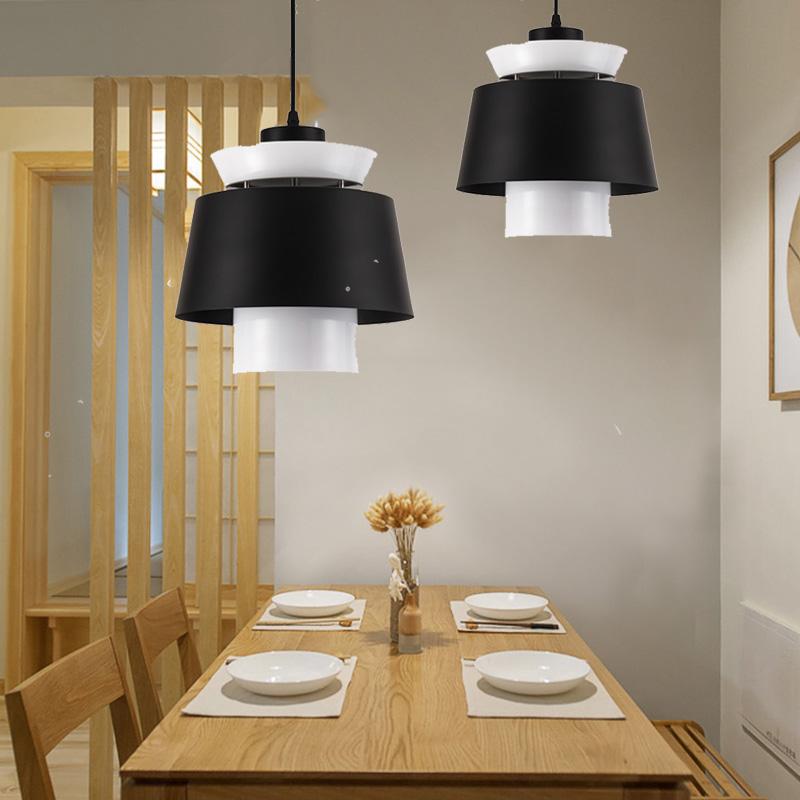 Modern loft cord drop pendant lamp kitchen 12W led hanglight dining room restaurant coffee shop bar led Pendant Lights