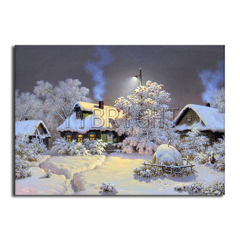 5D DIY Diamond Painting Landscape Snow House Resin Square Drill Scenery Winter Village Embroidery Needlework  Home Decor YH5D DIY Diamond Painting Landscape Snow House Resin Square Drill Scenery Winter Village Embroidery Needlework  Home Decor YH