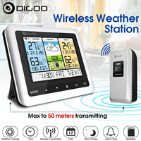 Digoo DG TH8888 Outdoor Weather Station Clock + Forecast Sensor USB Wireless Digital Thermometer Humidity Meter 3CH Moon Phrase