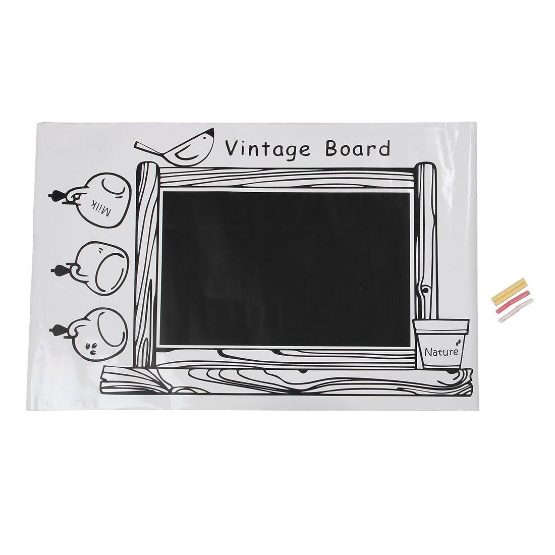 PVC Enmarcado Blackboard Removible Etiqueta de La Pared Pizarra ...