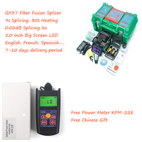 9S Splicing Fiber Optic Fusion Splicer Komshine GX37 with extra electrodes and power meter