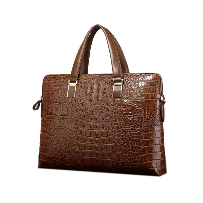 Business Briefcase Handbag Men Bag Messenger Shoulder Crocodile-Pattern Casual New Horizontal