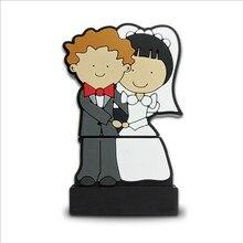 Свадебная usb флеш-накопитель подарочная карта памяти 1 Гб 2 ГБ 4 ГБ 8 ГБ 16 ГБ 32 ГБ Флешка для пары невесты(логотип на заказ